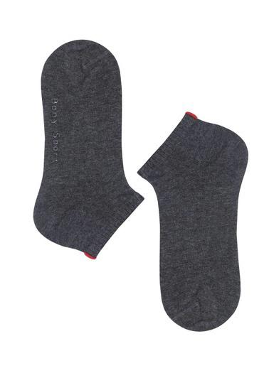 Katia & Bony Run 3 Lü Kadın Basic Patik Çorap  Antrasit